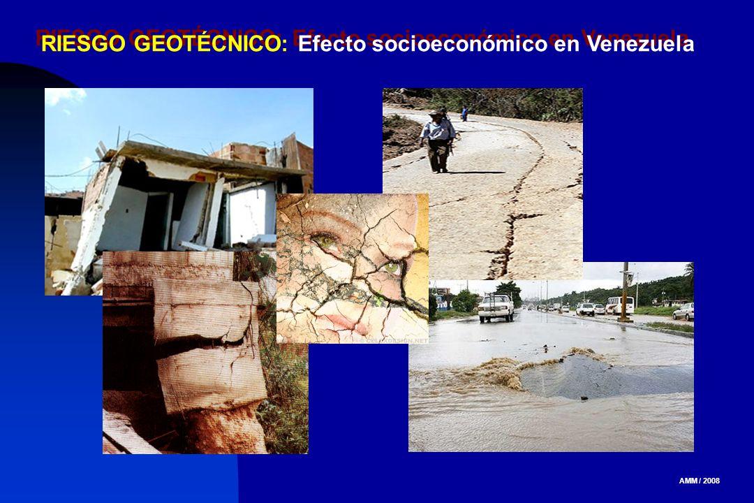 AMM / 2008 RIESGO GEOTÉCNICO: Efecto socioeconómico en Venezuela