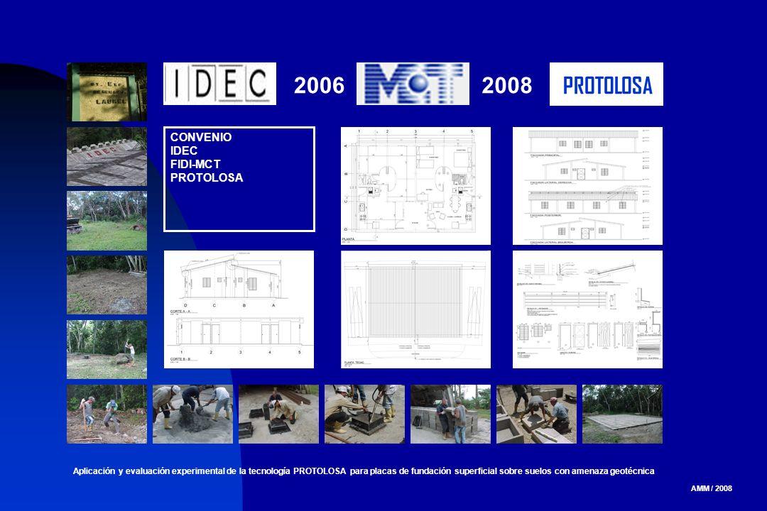 AMM / 2008 Aplicación y evaluación experimental de la tecnología PROTOLOSA para placas de fundación superficial sobre suelos con amenaza geotécnica CO