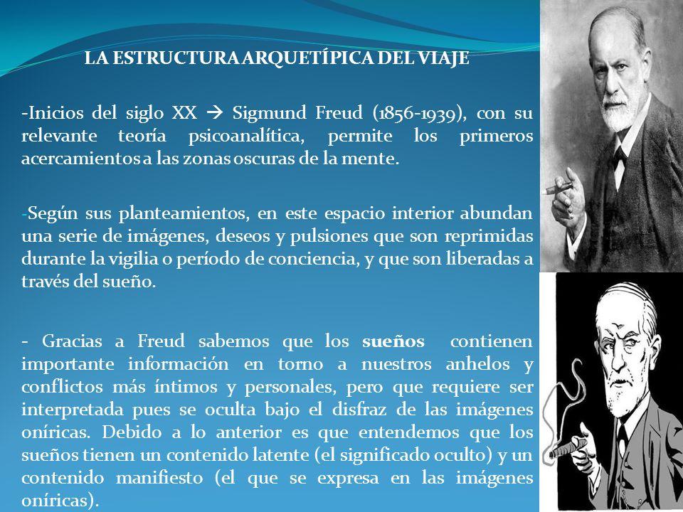 LA ESTRUCTURA ARQUETÍPICA DEL VIAJE -Inicios del siglo XX Sigmund Freud (1856-1939), con su relevante teoría psicoanalítica, permite los primeros acer