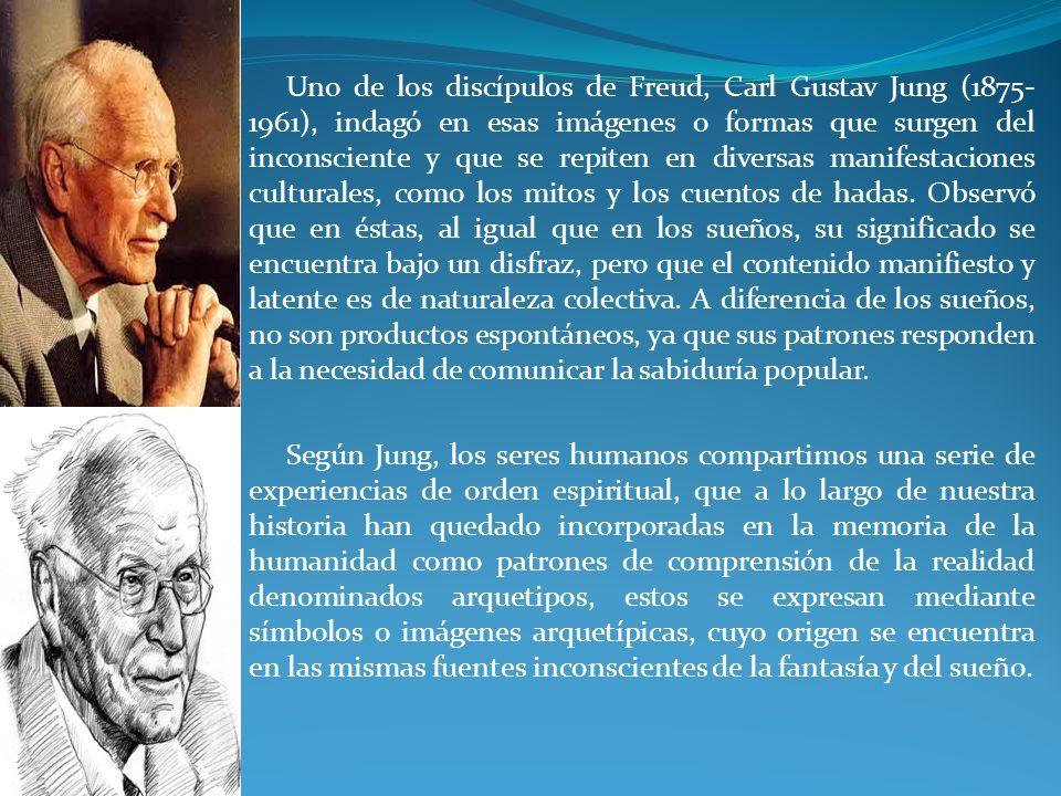 Uno de los discípulos de Freud, Carl Gustav Jung (1875- 1961), indagó en esas imágenes o formas que surgen del inconsciente y que se repiten en divers