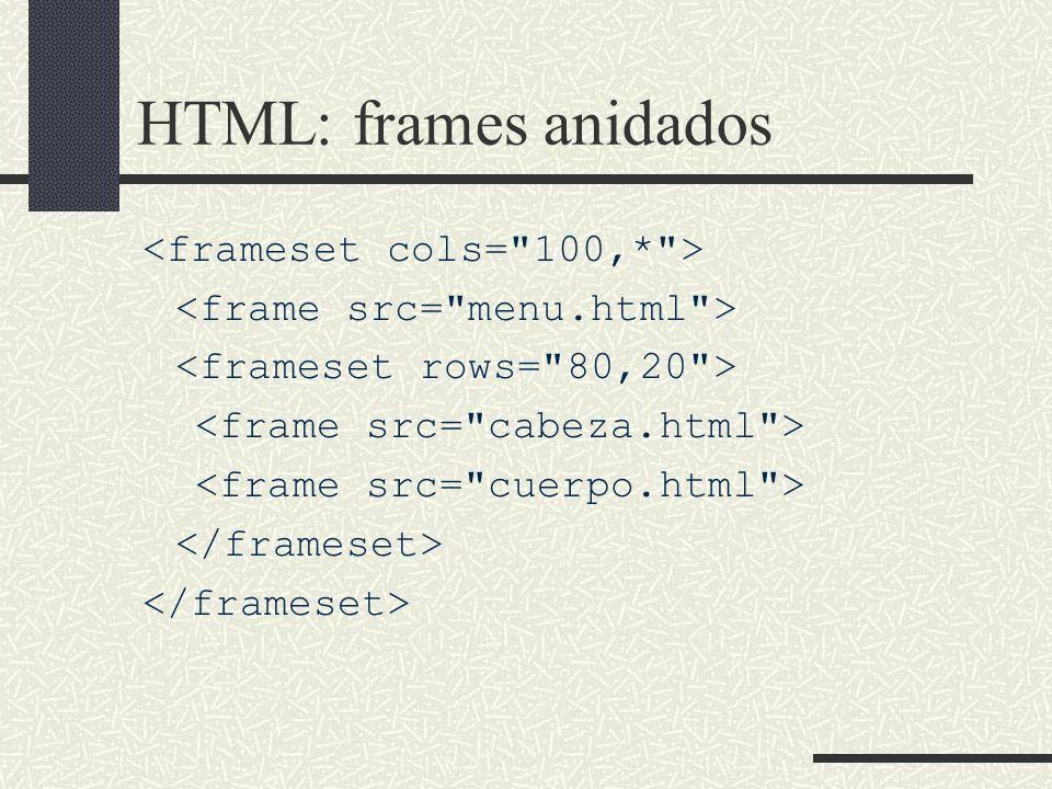 HTML: frames anidados