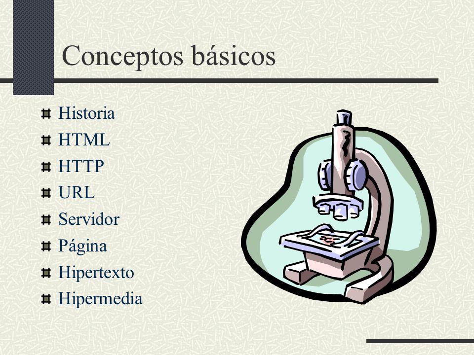 Historia HTML HTTP URL Servidor Página Hipertexto Hipermedia