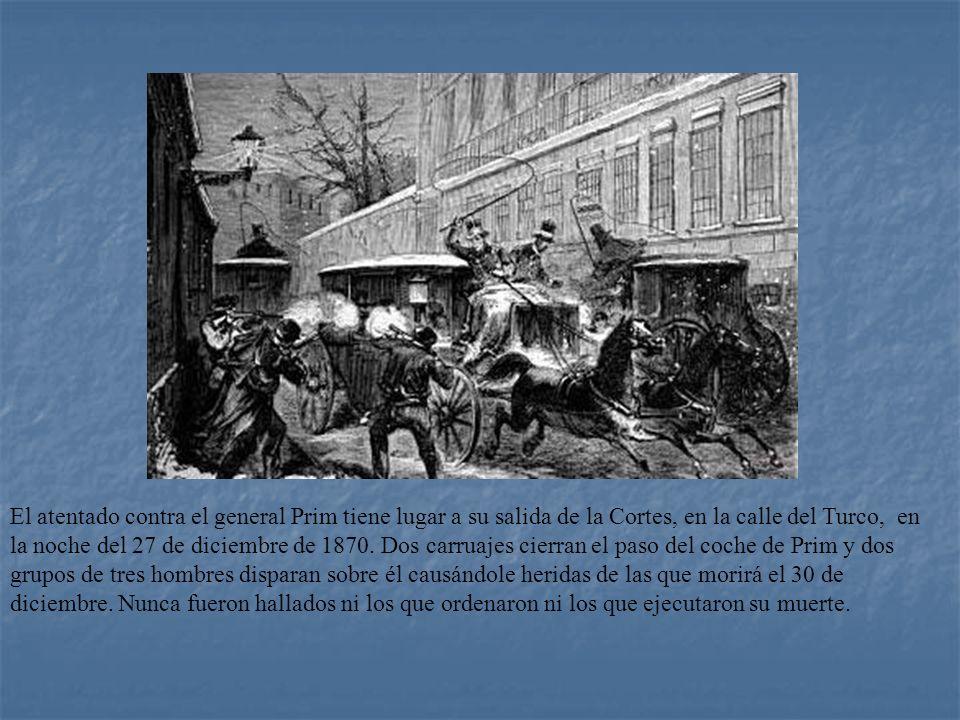 REINADO DE AMADEO I (1871 - 1873) Amadeo de Saboya (1845 - 1890), era hijo del rey de Italia Víctor Manuel II. Se convirtió en rey por votación en las