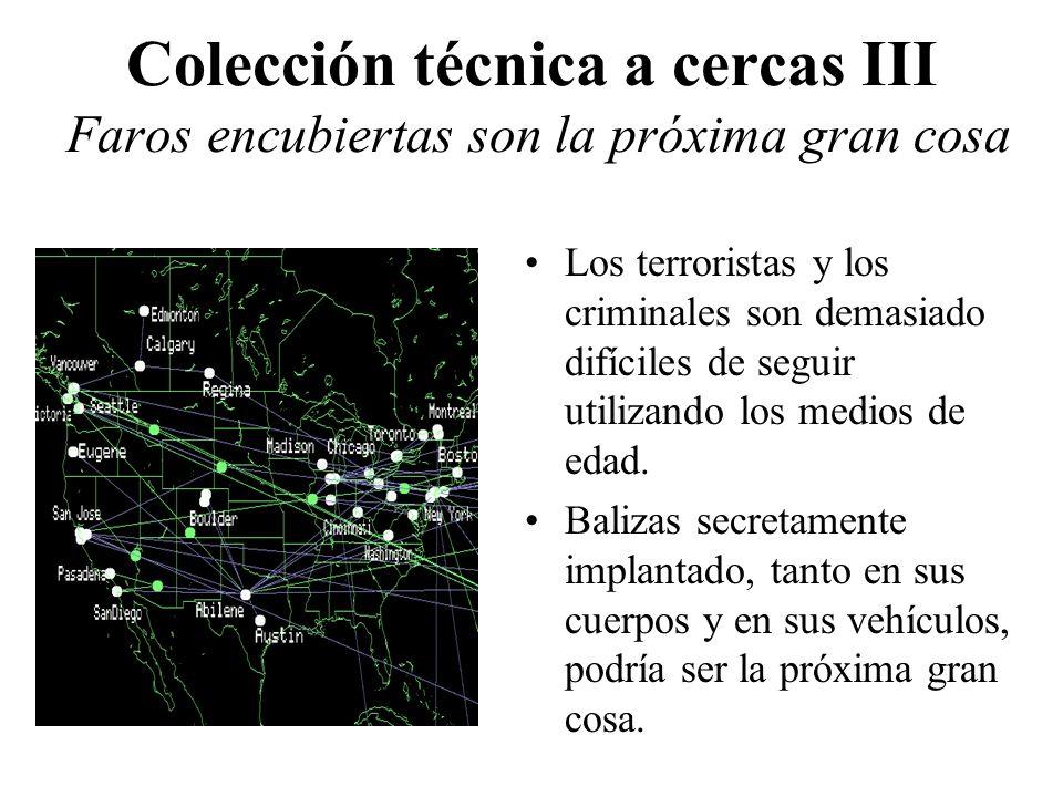 Colección técnica a cercas III Faros encubiertas son la próxima gran cosa Los terroristas y los criminales son demasiado difíciles de seguir utilizand