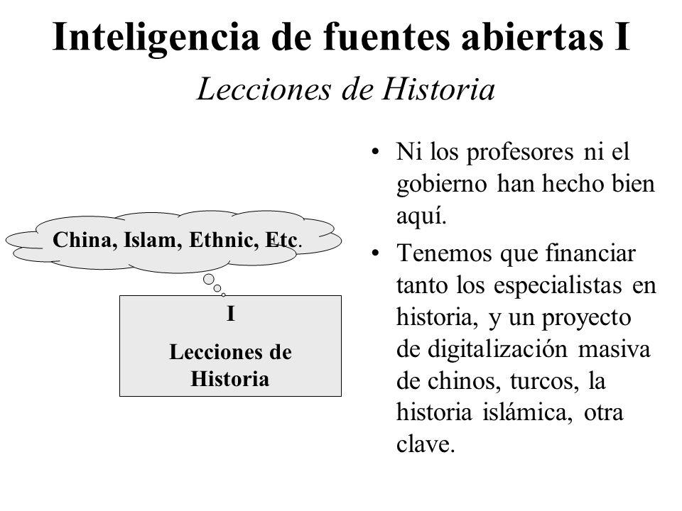 Inteligencia de fuentes abiertas I Lecciones de Historia I Lecciones de Historia China, Islam, Ethnic, Etc. Ni los profesores ni el gobierno han hecho