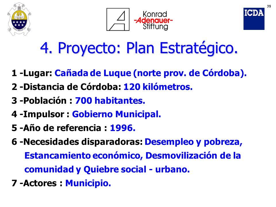 1 -Lugar: Cañada de Luque (norte prov. de Córdoba). 2 -Distancia de Córdoba: 120 kilómetros. 3 -Población : 700 habitantes. 4 -Impulsor : Gobierno Mun