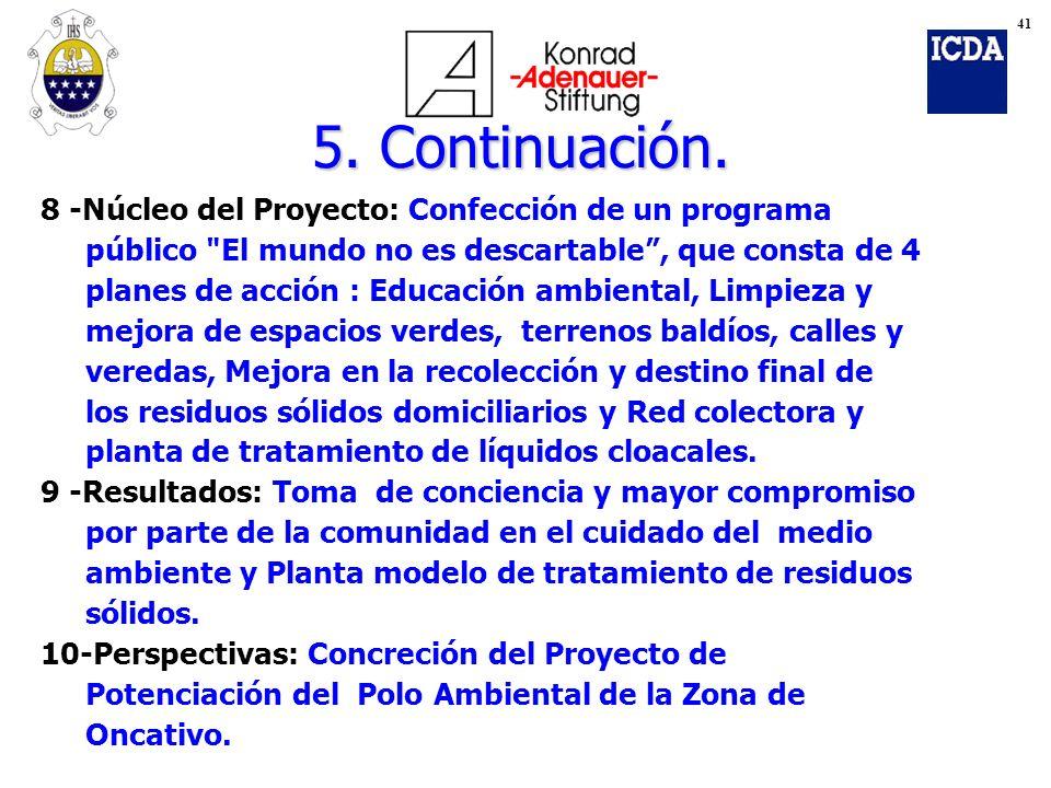 8 -Núcleo del Proyecto: Confección de un programa público