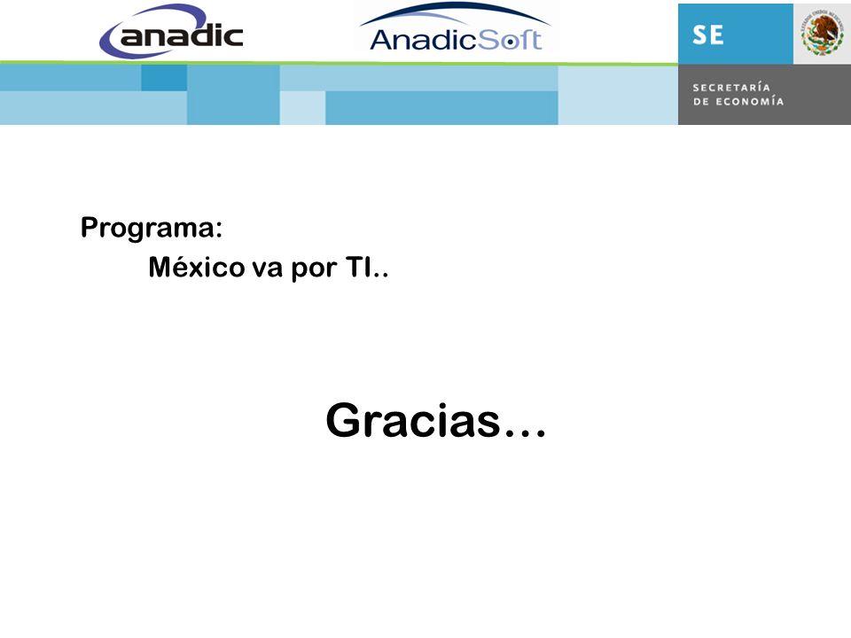 México va por TI.. Programa: Gracias…