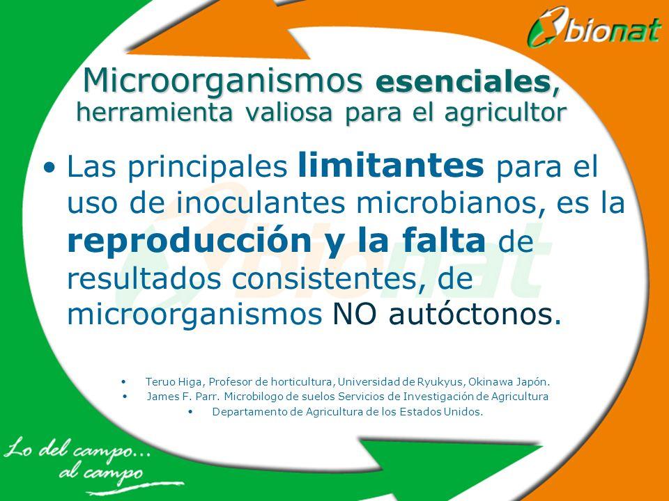 Microorganismos esenciales, herramienta valiosa para el agricultor Las principales limitantes para el uso de inoculantes microbianos, es la reproducci