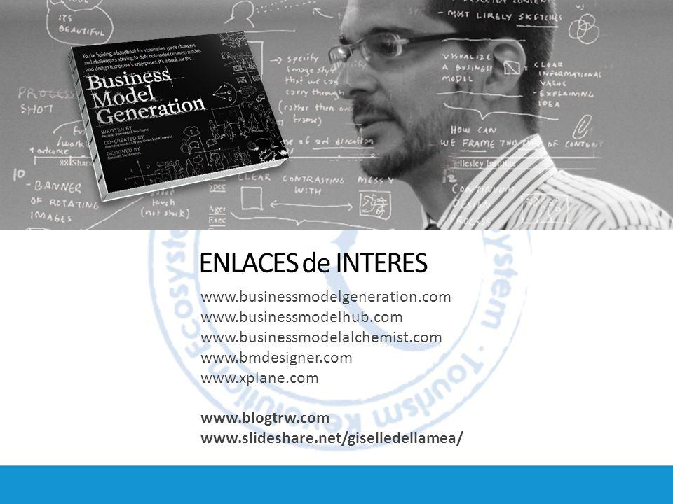 ENLACES de INTERES www.businessmodelgeneration.com www.businessmodelhub.com www.businessmodelalchemist.com www.bmdesigner.com www.xplane.com www.blogt