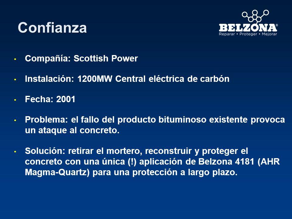 Confianza Compañía: Scottish Power Instalación: 1200MW Central eléctrica de carbón Fecha: 2001 Problema: el fallo del producto bituminoso existente pr