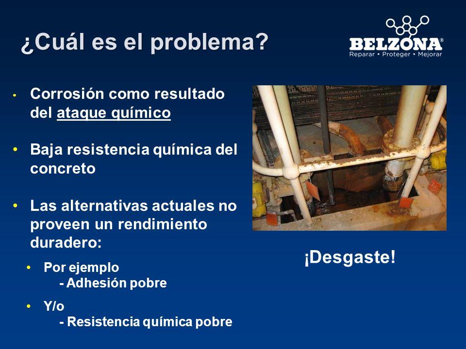 Cliente – Refinería química Problema – Erosión del concreto causada por fugas y ácido concentrado Solución – Belzona 4131 (Magma Screed) usado para reconstruir y reparar el concreto dañado, y Belzona 4311 (Magma CR1) aplicado para proveer de una capa resistente a los ácidos.