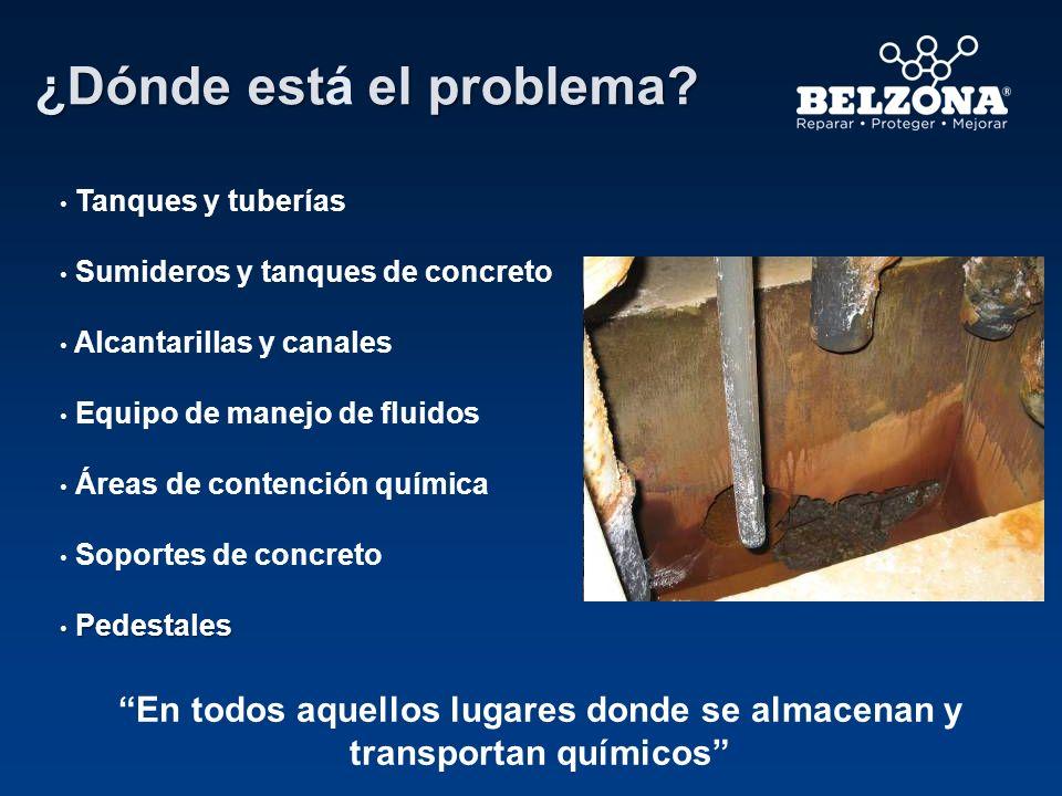 ¿Dónde est el problema? ¿Dónde está el problema? Tanques y tuberías Sumideros y tanques de concreto Alcantarillas y canales Equipo de manejo de fluido