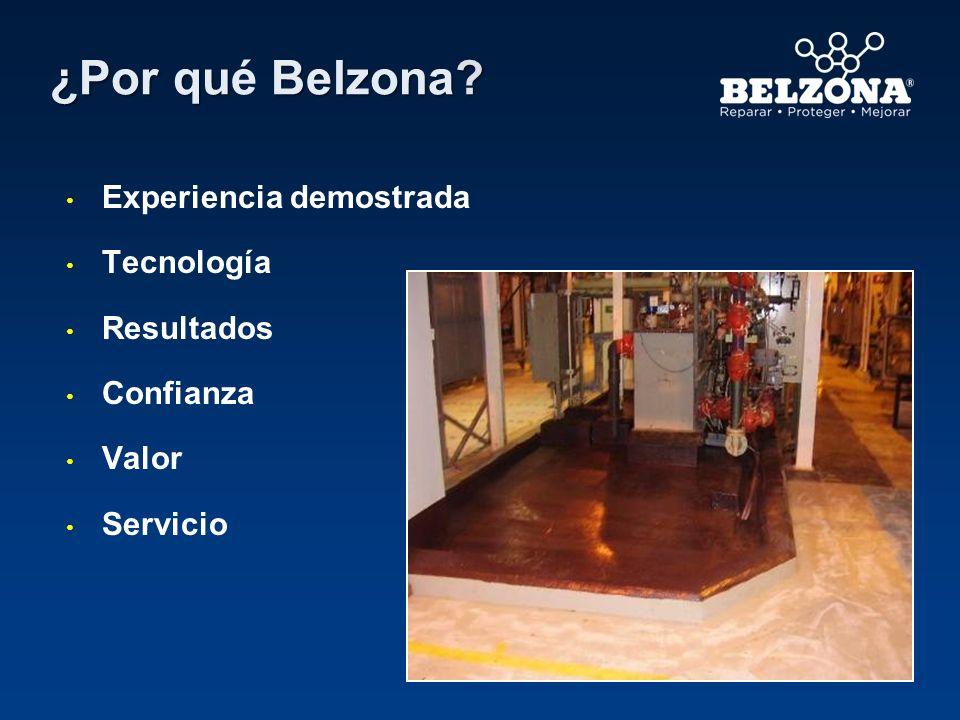 ¿Por qu Belzona? ¿Por qué Belzona? Experiencia demostrada Tecnología Resultados Confianza Valor Servicio