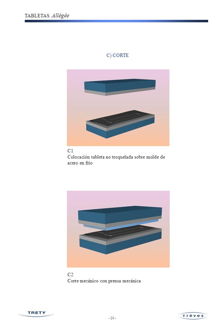 TABLETAS Allégée D) MONTAJE ACCESORIOS D1 Montaje cordones ( retractables, flexibles, elásticos, rígidos,etc...) D2 Montaje eje articulación - 21-