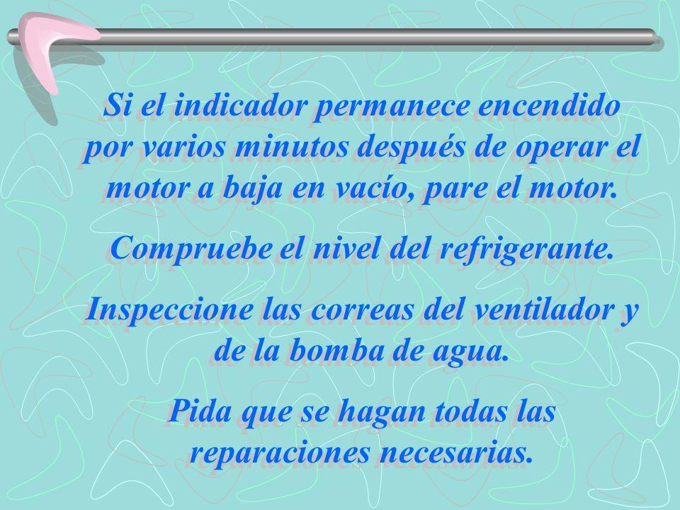 Temperatura del aceite hidráulico ( 3 ) Si el indicador se enciende indica el recalentamiento del aceite hidráulico.