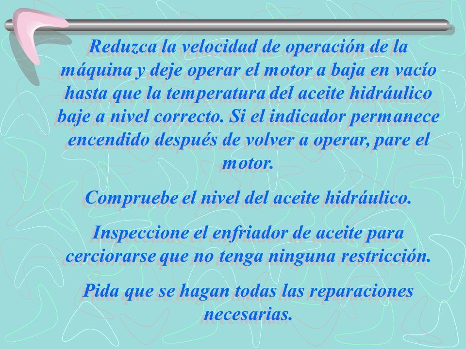 Nivel de advertencia III En este nivel, se enciende el indicador, destella la luz de fallas y suena la alarma de fallas.