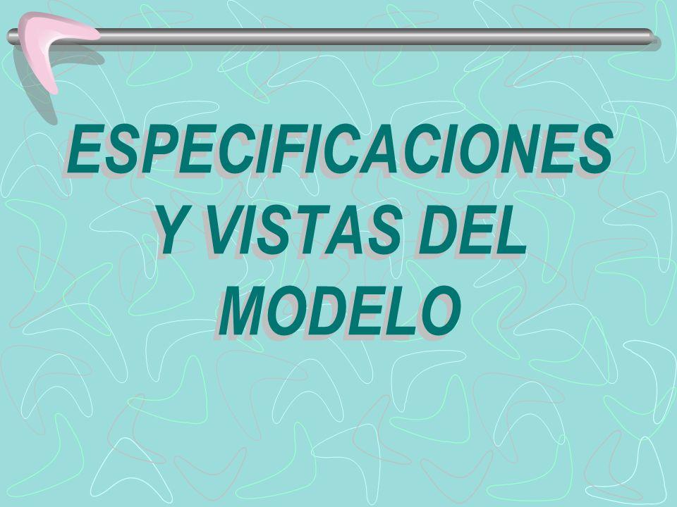 ESPECIFICACIONES Y VISTAS DEL MODELO