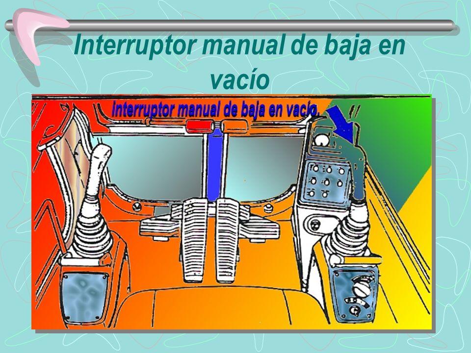 INTERRUPTORES DEL SISTEMA DE EMERGENCIA DEL CONTROLADOR ELECTRÓNICO UBICADOS EN LA PARTE POSTERIOR DE LA CONSOLA DEL LADO DERECHO