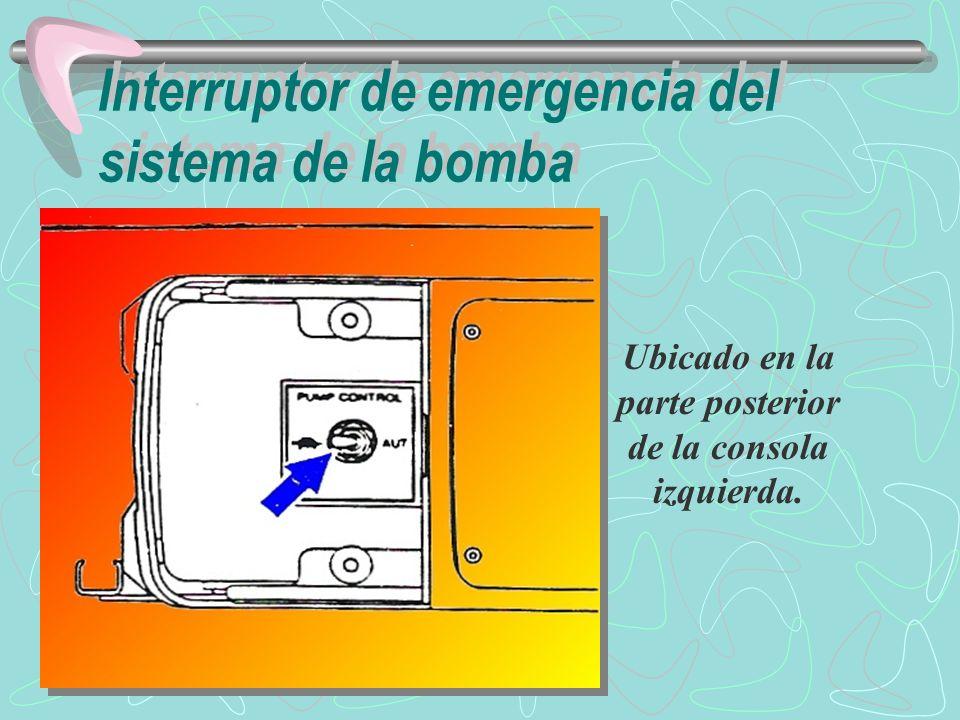 En condiciones normales, el interruptor debe estar en la posición AUT (normal).