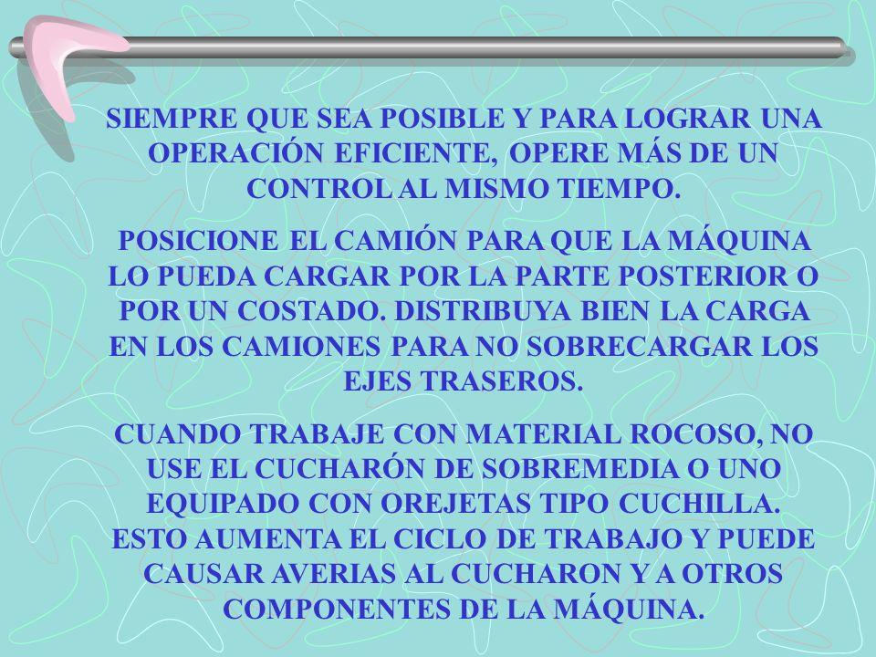 OPERACIÓN CON LA RETROEXCAVADORA EXCAVACIÓN