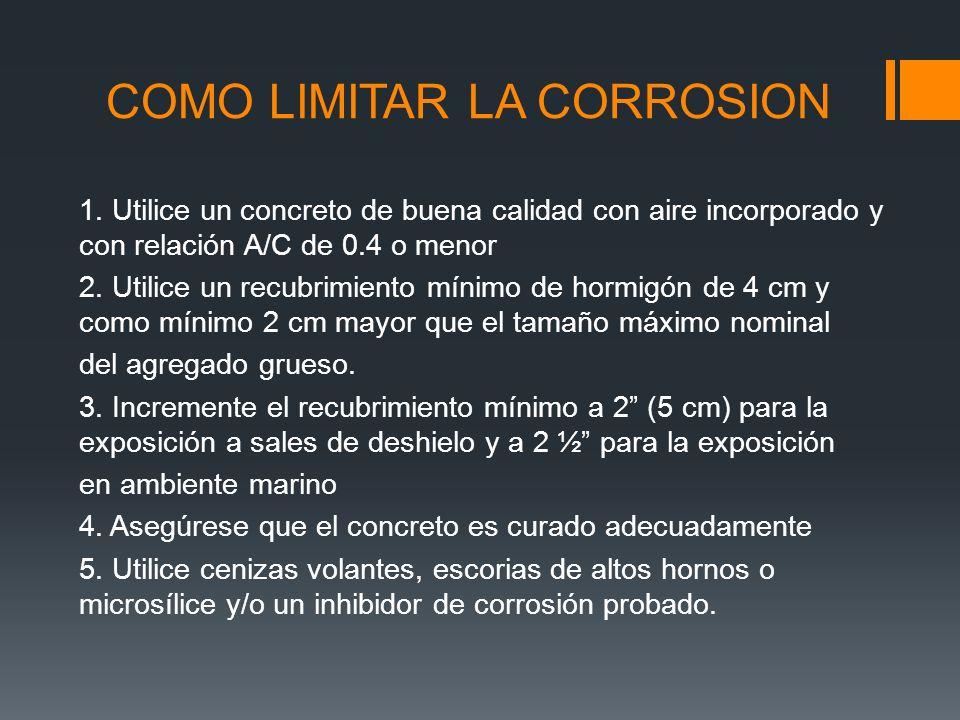 COMO LIMITAR LA CORROSION 1.