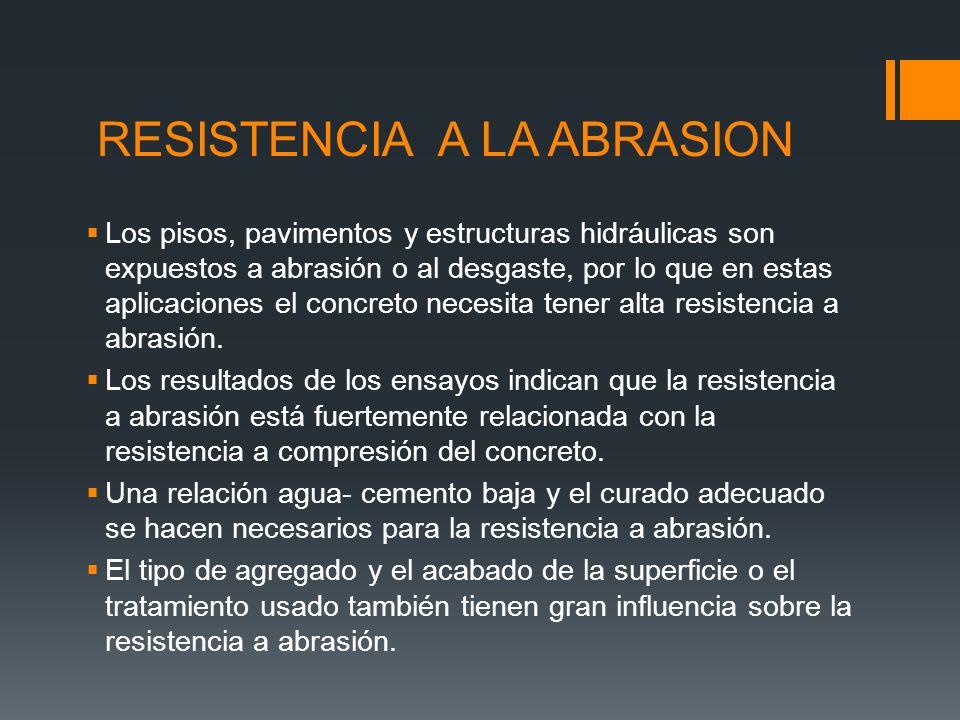 EFECTO DE LA RESISTENCIA A COMPRESIÓN Y DEL TIPO DE AGREGADO SOBRE LA RESISTENCIA A ABRASIÓN DEL CONCRETO (ASTM C 1138).