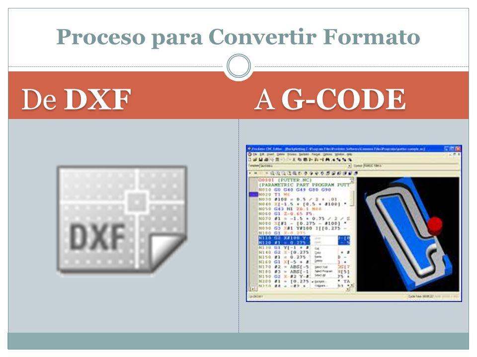 De DXF A G-CODE Proceso para Convertir Formato