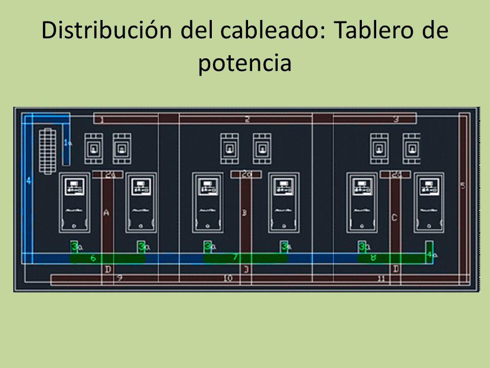 Distribución del cableado: Tablero de potencia