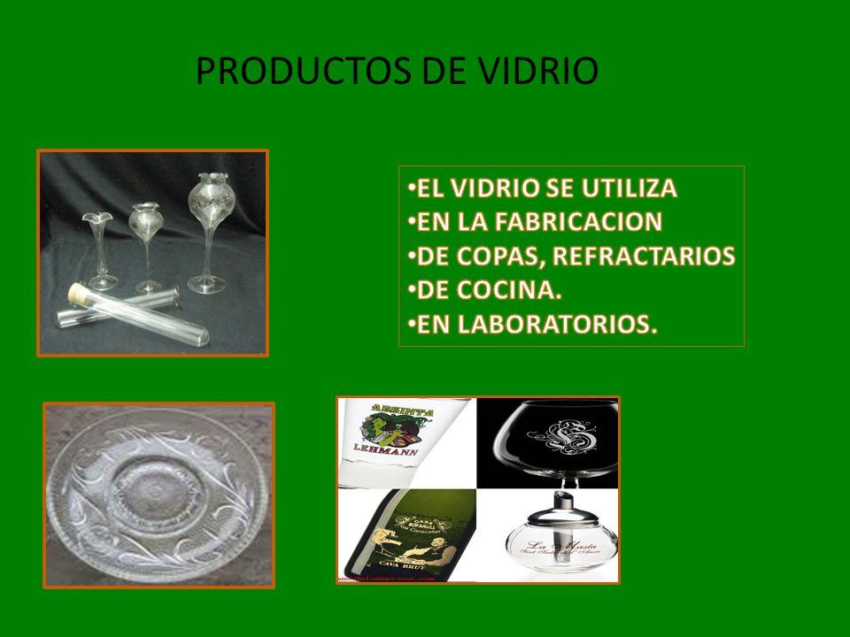 PRODUCTOS DE VIDRIO