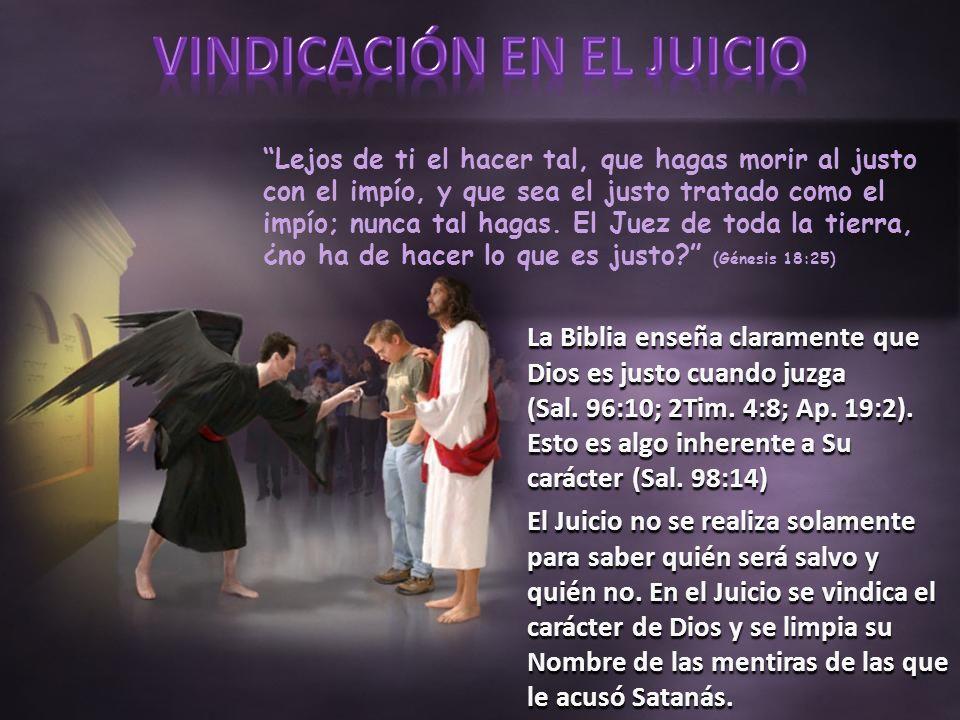 Lejos de ti el hacer tal, que hagas morir al justo con el impío, y que sea el justo tratado como el impío; nunca tal hagas.