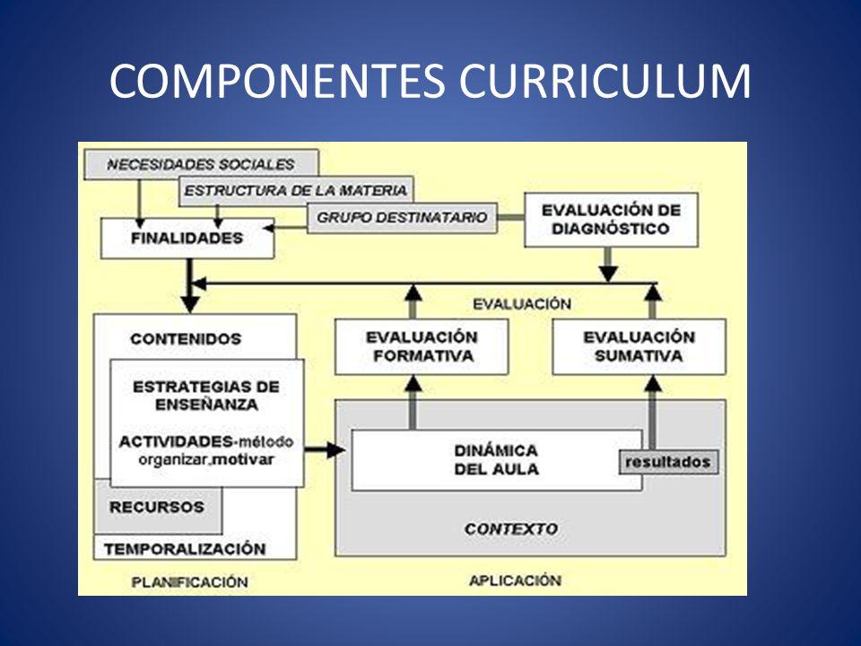 COMPONENTES CURRICULUM