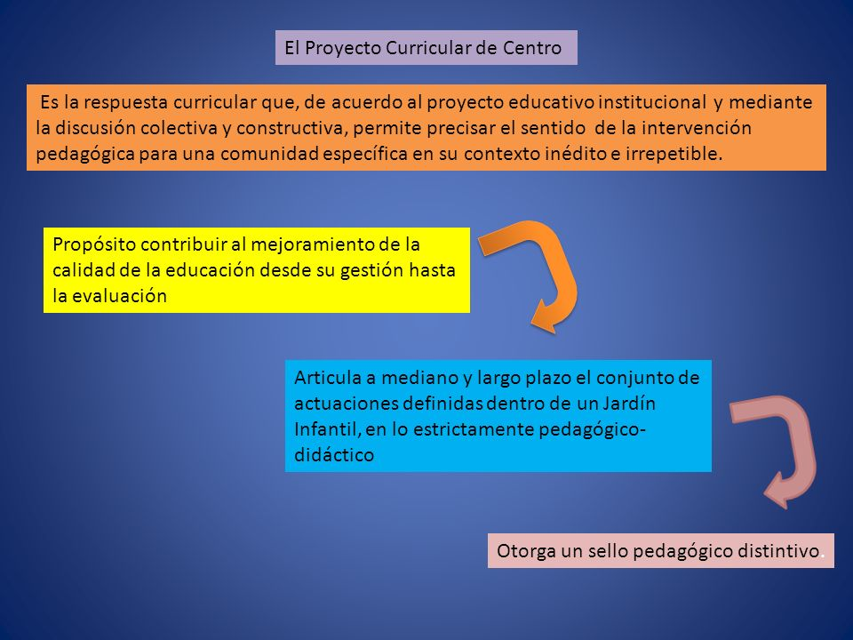Es la respuesta curricular que, de acuerdo al proyecto educativo institucional y mediante la discusión colectiva y constructiva, permite precisar el sentido de la intervención pedagógica para una comunidad específica en su contexto inédito e irrepetible.