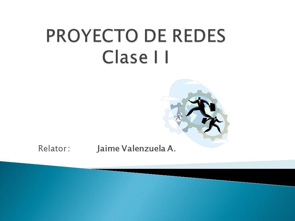 Relator:Jaime Valenzuela A.
