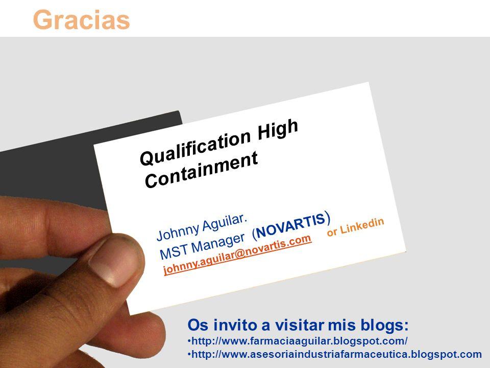 Carolina Bonifacio| Nueva Estrategia para la Validación de procesos | Barcelona, 8 Junio 2009 37/106 Qualification High Containment Johnny Aguilar. MS
