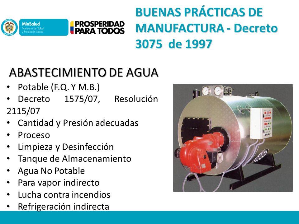 ABASTECIMIENTO DE AGUA Potable (F.Q.
