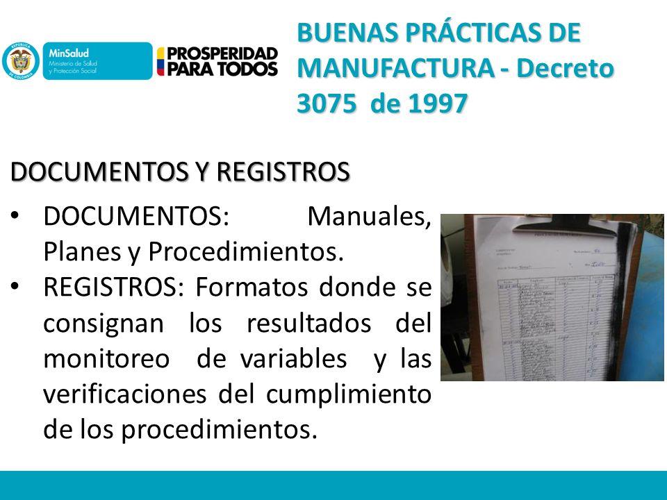 DOCUMENTOS Y REGISTROS DOCUMENTOS: Manuales, Planes y Procedimientos.