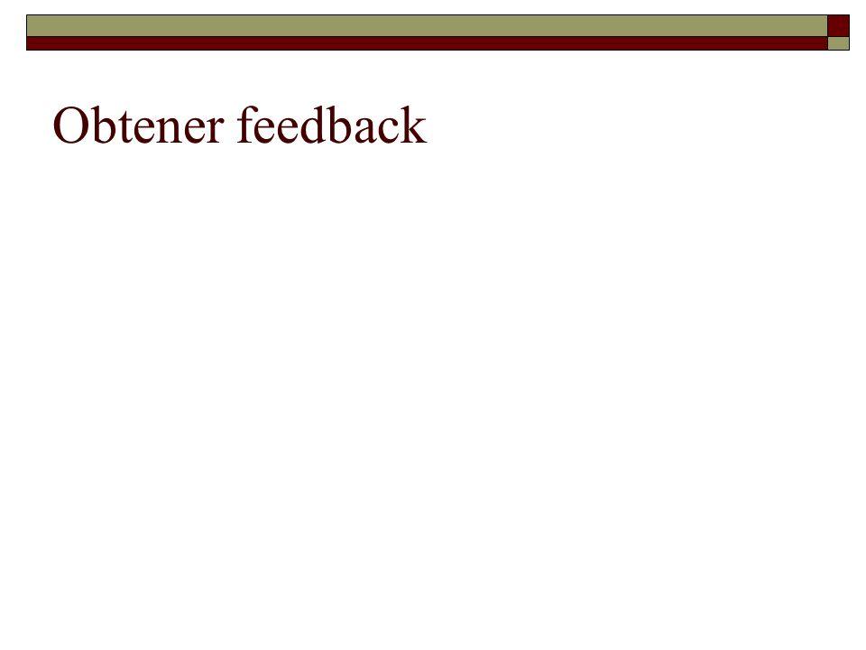 Obtener feedback