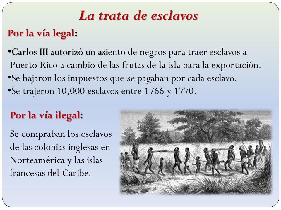 Por la vía legal: Carlos III autorizó un asi Carlos III autorizó un asiento de negros para traer esclavos a Puerto Rico a cambio de las frutas de la i