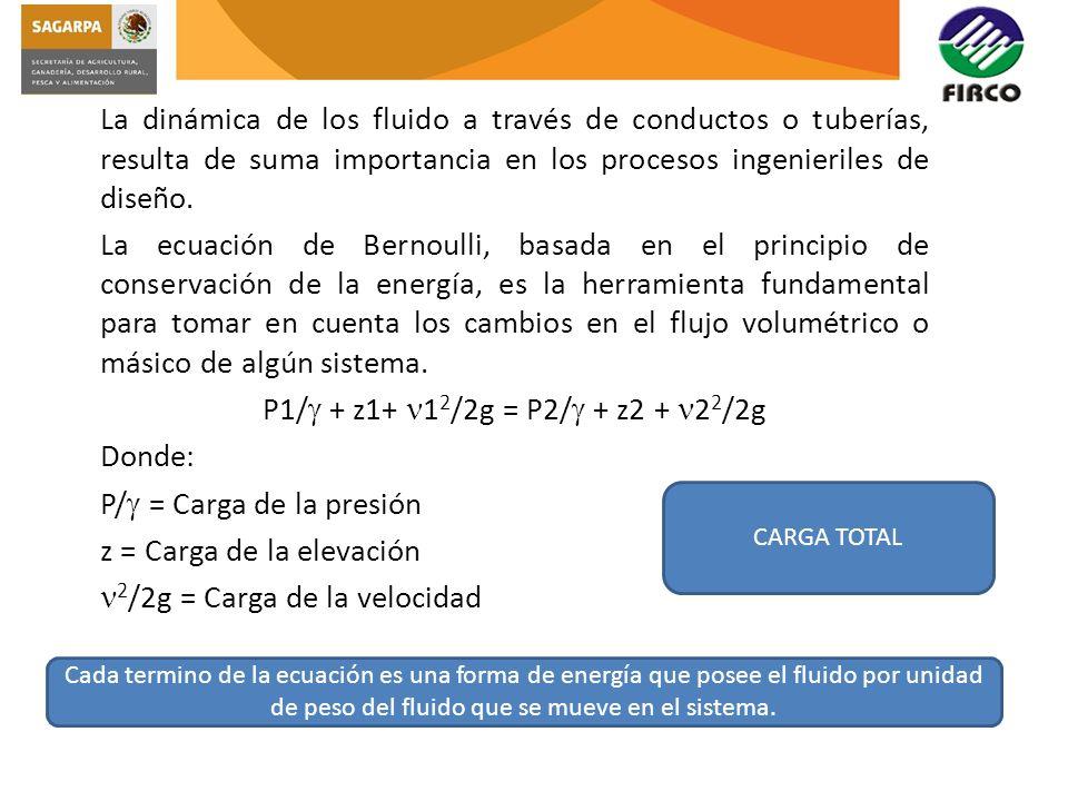 La dinámica de los fluido a través de conductos o tuberías, resulta de suma importancia en los procesos ingenieriles de diseño. La ecuación de Bernoul