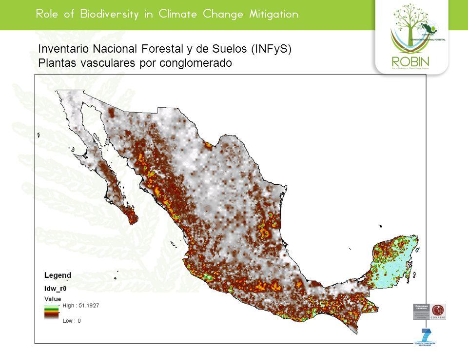 Inventario Nacional Forestal y de Suelos (INFyS) Plantas vasculares por conglomerado