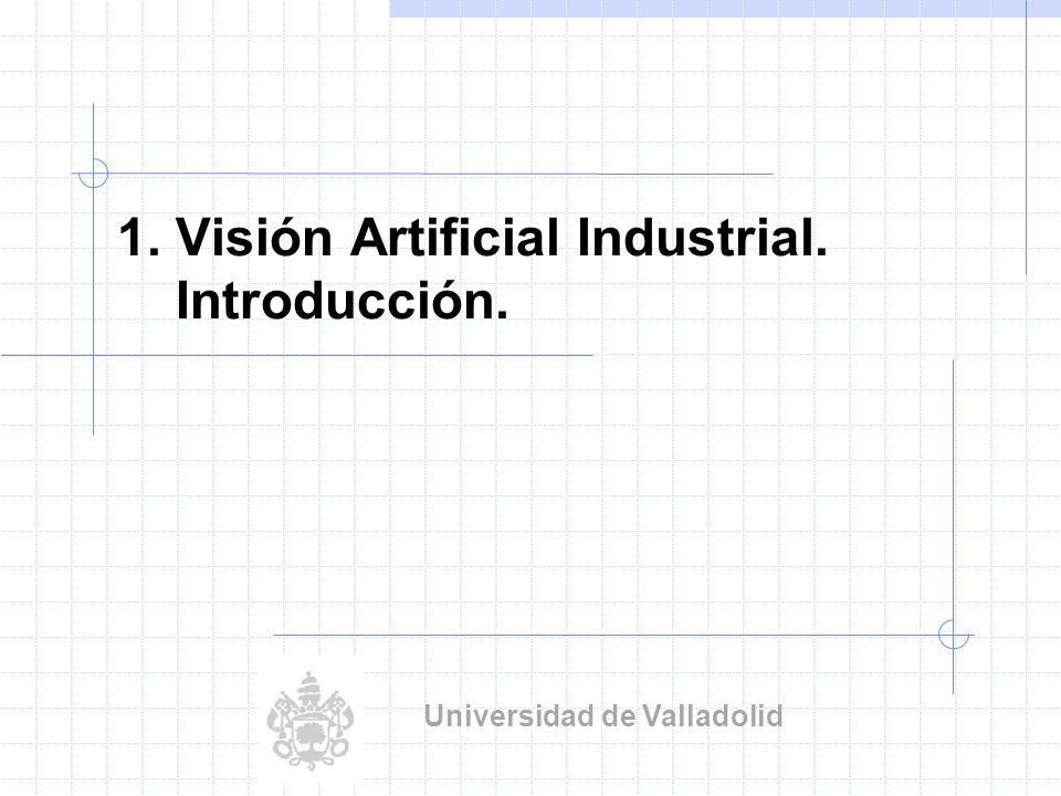 1. Visión Artificial Industrial. Introducción. Universidad de Valladolid
