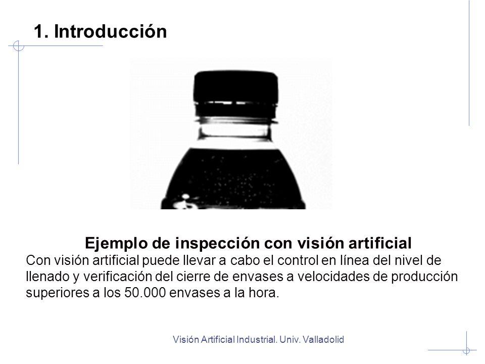 Ejemplo de inspección con visión artificial Con visión artificial puede llevar a cabo el control en línea del nivel de llenado y verificación del cier