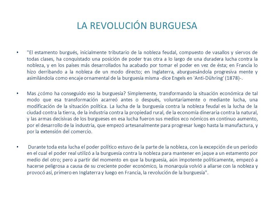 LA REVOLUCIÓN BURGUESA