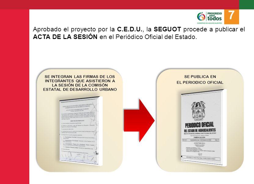 La SEGUOT deberá notificar al interesado la resolución de la C.E.D.U., señalándole las obligaciones que deberá cumplir.