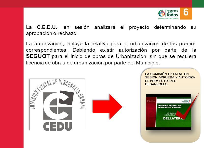 Aprobado el proyecto por la C.E.D.U., la SEGUOT procede a publicar el ACTA DE LA SESIÓN en el Periódico Oficial del Estado.