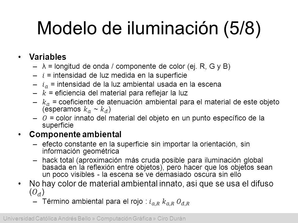 Universidad Católica Andrés Bello » Computación Gráfica » Ciro Durán Modelo de iluminación (5/8)