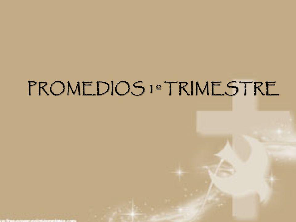 PROMEDIOS 1º TRIMESTRE