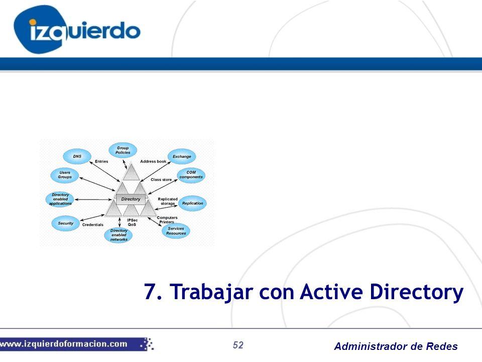 Administrador de Redes 52 7. Trabajar con Active Directory