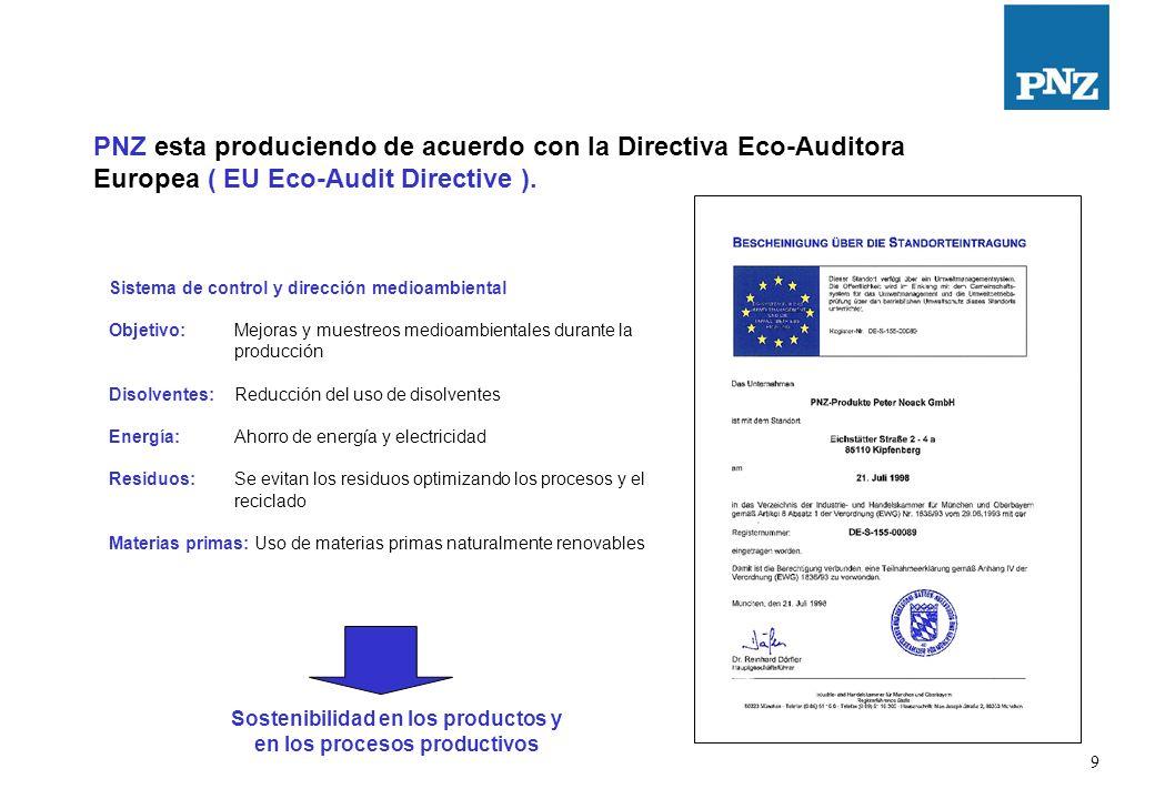 10 PNZ esta certificado como un productor neutral de CO2 PNZ esta certificado como un productor neutral de CO2.
